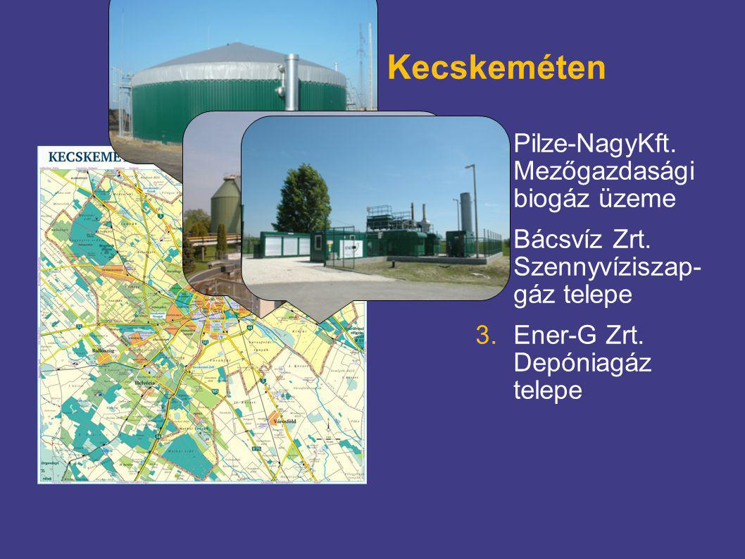 Biogáz üzemek Kecskeméten