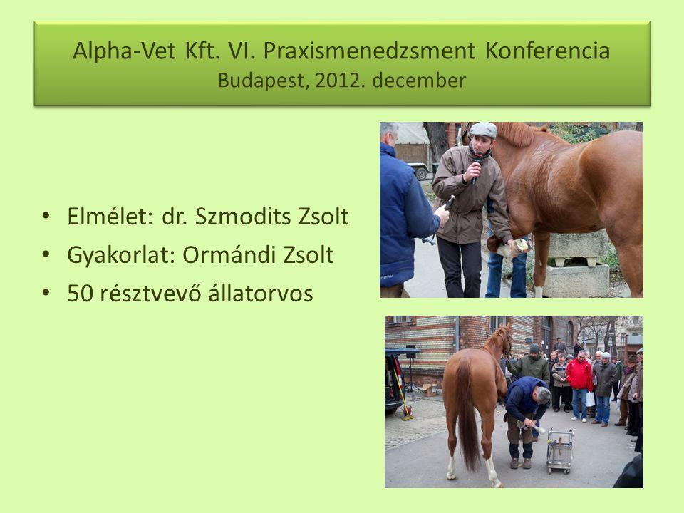 Alpha-Vet Kft. VI. Praxismenedzsment Konferencia Budapest, 2012