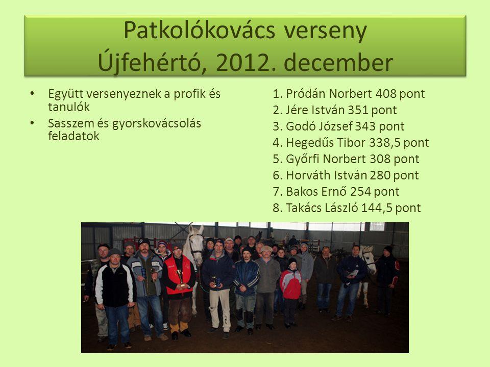 Patkolókovács verseny Újfehértó, 2012. december