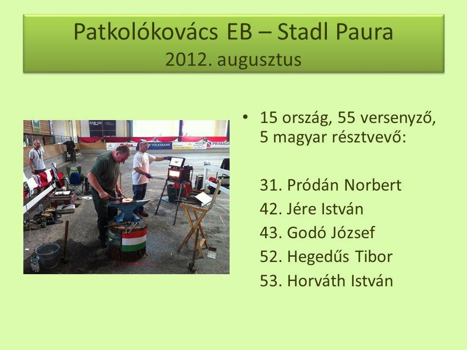 Patkolókovács EB – Stadl Paura 2012. augusztus