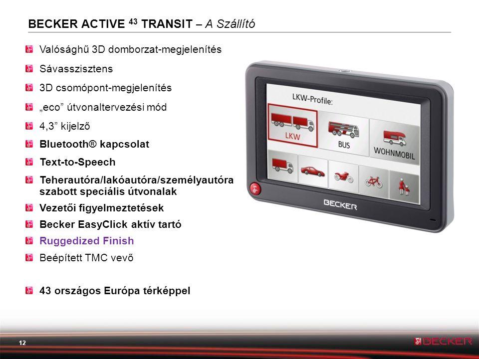 BECKER ACTIVE 43 TRANSIT – A Szállító