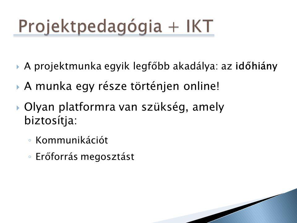 Projektpedagógia + IKT