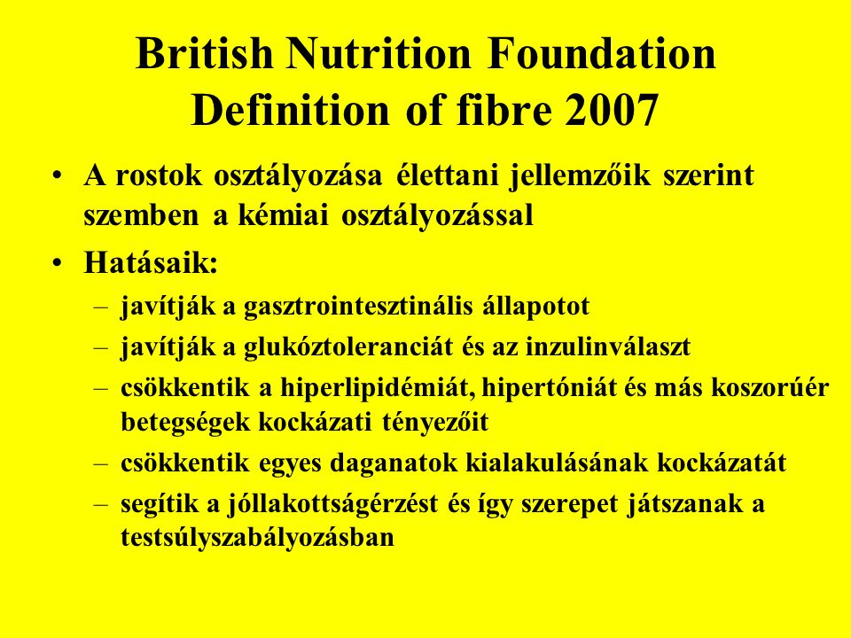 British Nutrition Foundation Definition of fibre 2007
