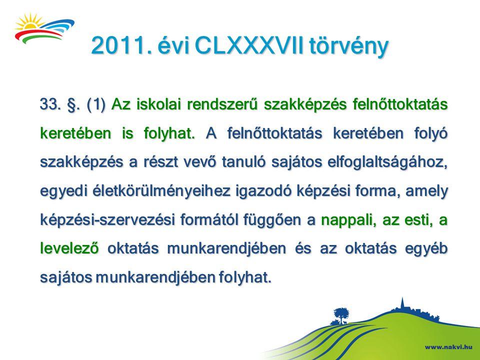 2011. évi CLXXXVII törvény