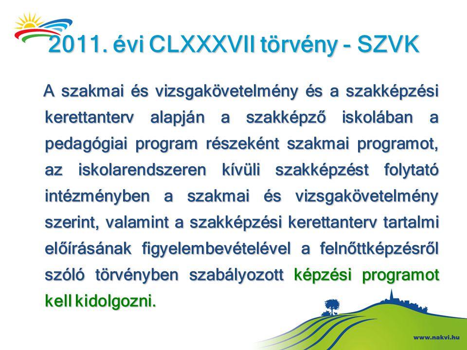 2011. évi CLXXXVII törvény - SZVK