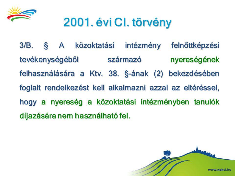 2001. évi CI. törvény