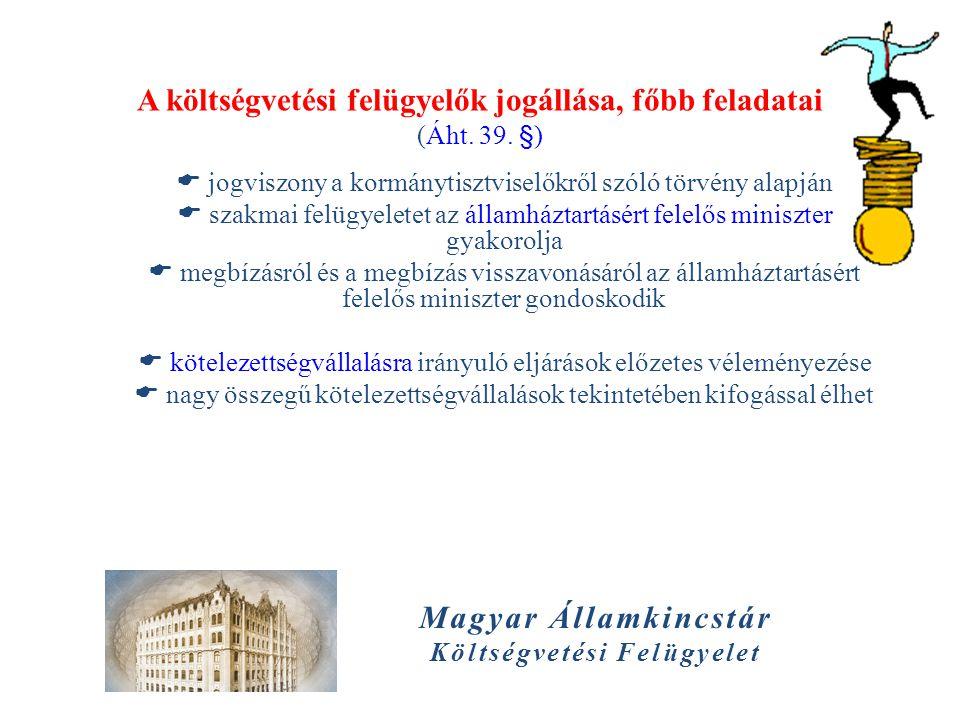 A költségvetési felügyelők jogállása, főbb feladatai