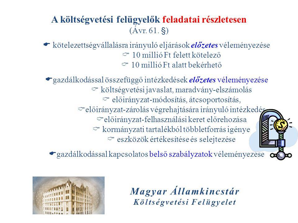 A költségvetési felügyelők feladatai részletesen Magyar Államkincstár