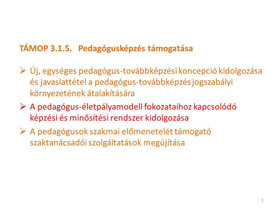 TÁMOP 3.1.5. Pedagógusképzés támogatása