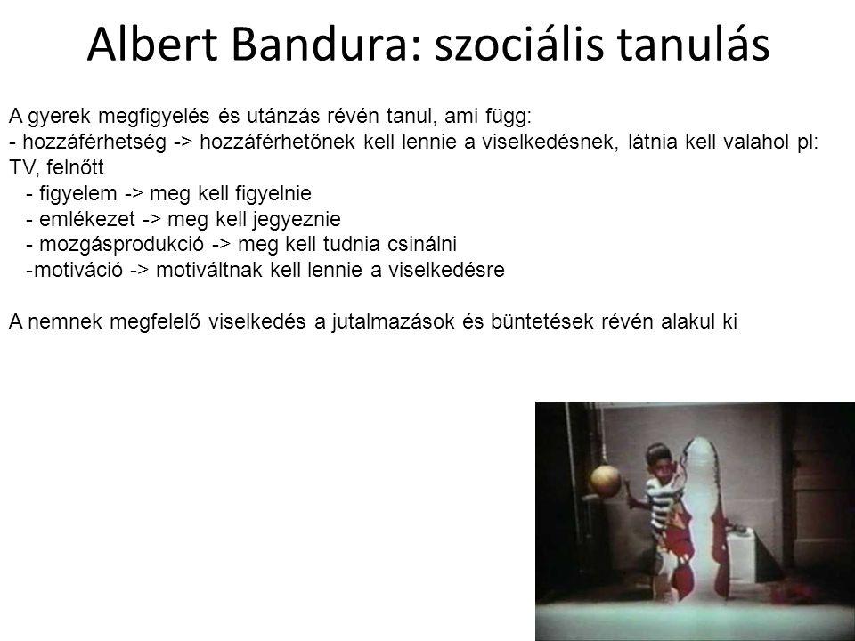 Albert Bandura: szociális tanulás