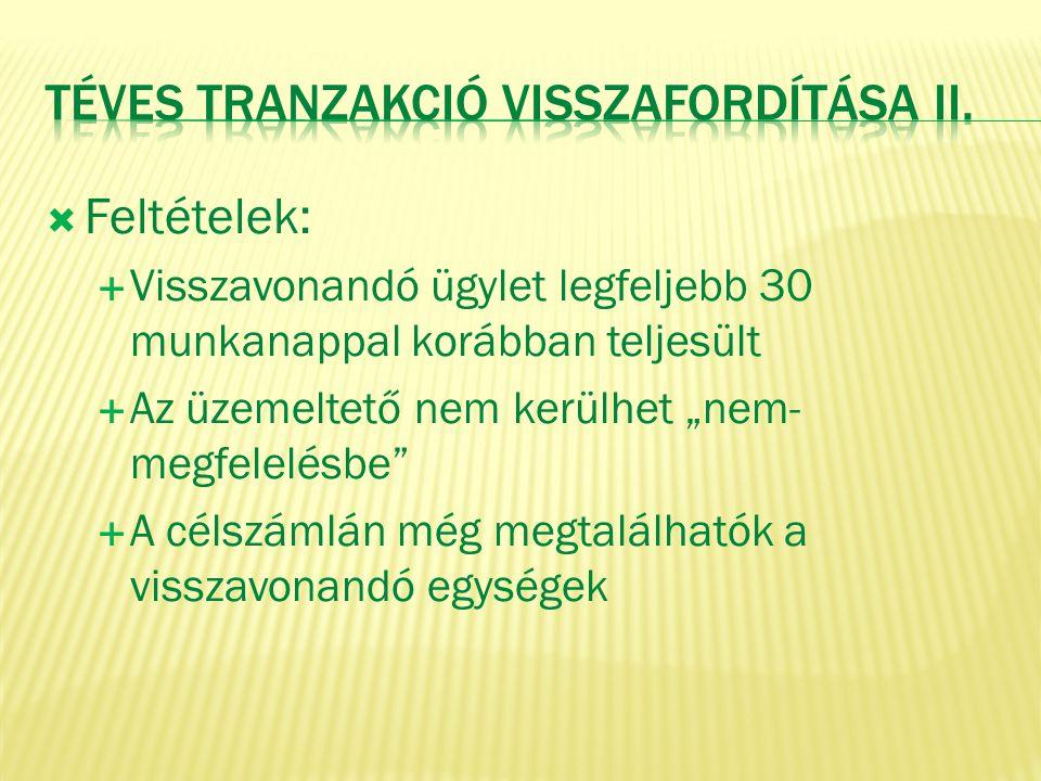TÉVES tranzakció visszafordítása II.