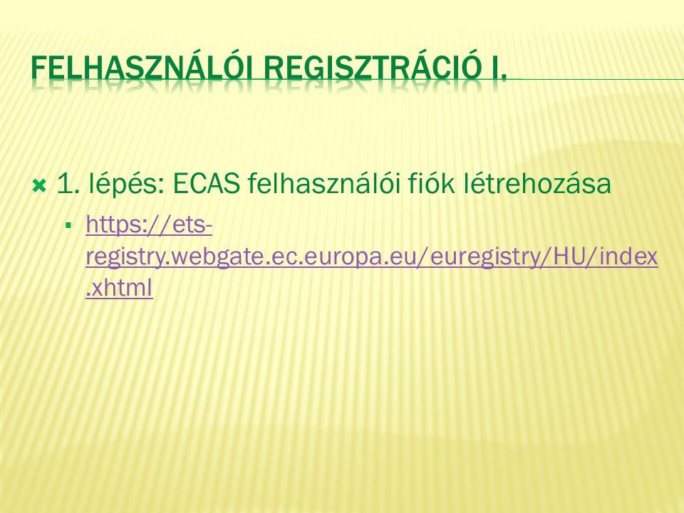 Felhasználói Regisztráció I.