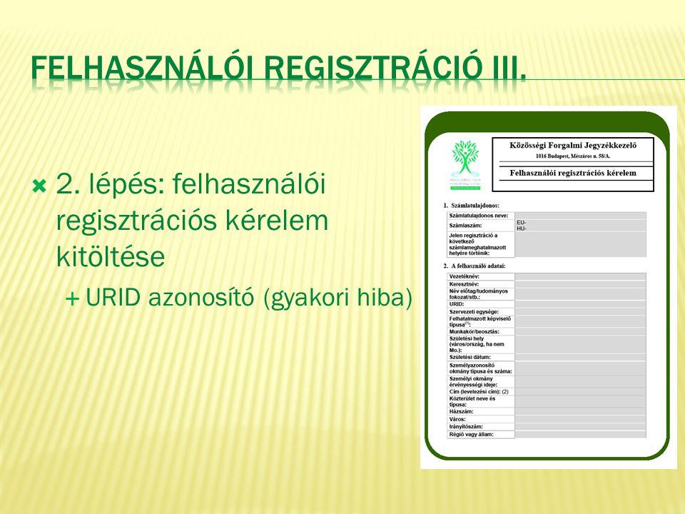 Felhasználói Regisztráció III.