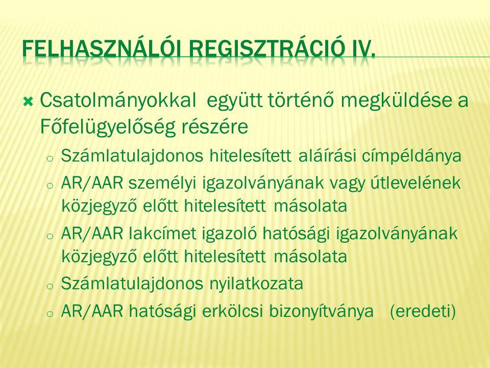 Felhasználói Regisztráció IV.