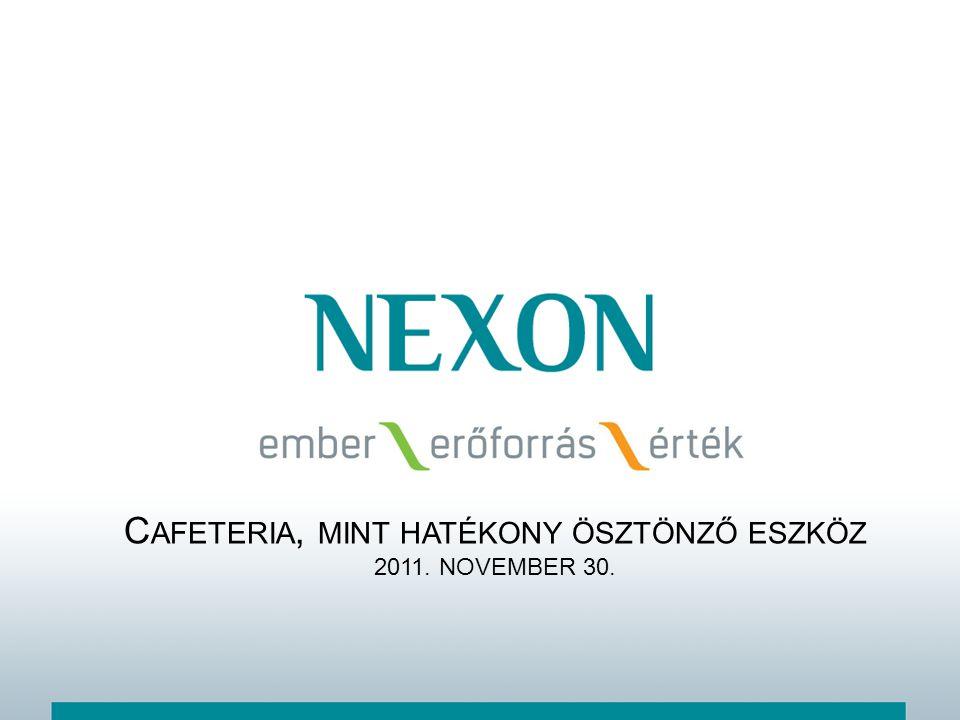 Cafeteria, mint hatékony ösztönző eszköz 2011. NOVEMBER 30.