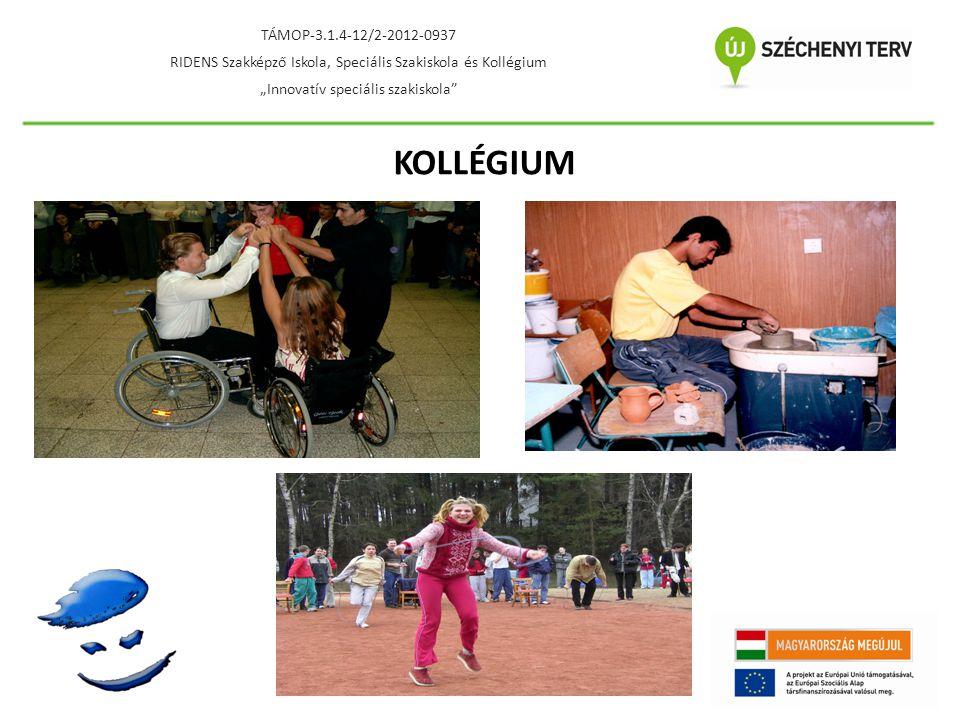 """TÁMOP-3.1.4-12/2-2012-0937 RIDENS Szakképző Iskola, Speciális Szakiskola és Kollégium. """"Innovatív speciális szakiskola"""