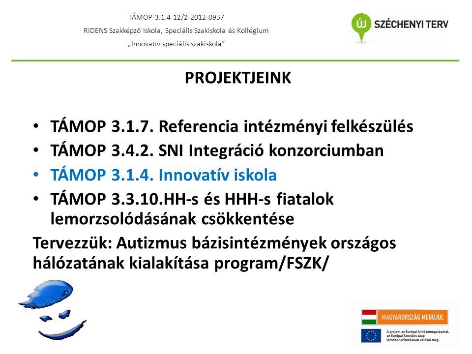 TÁMOP 3.1.7. Referencia intézményi felkészülés