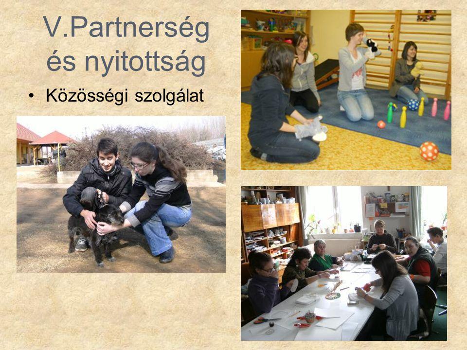 V.Partnerség és nyitottság