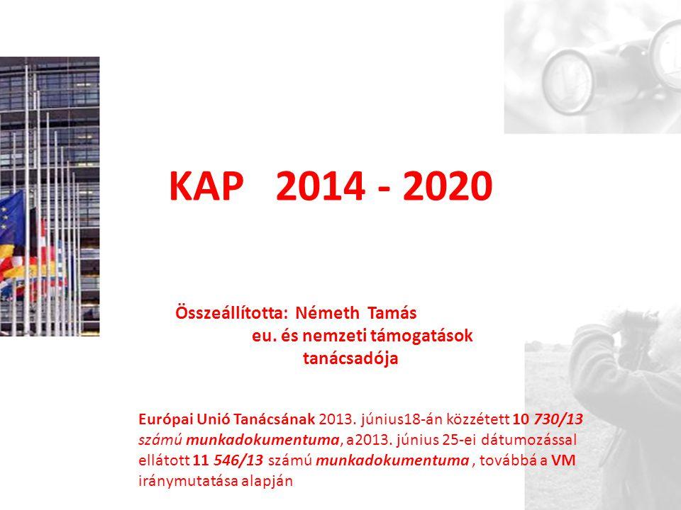 KAP 2014 - 2020 Összeállította: Németh Tamás