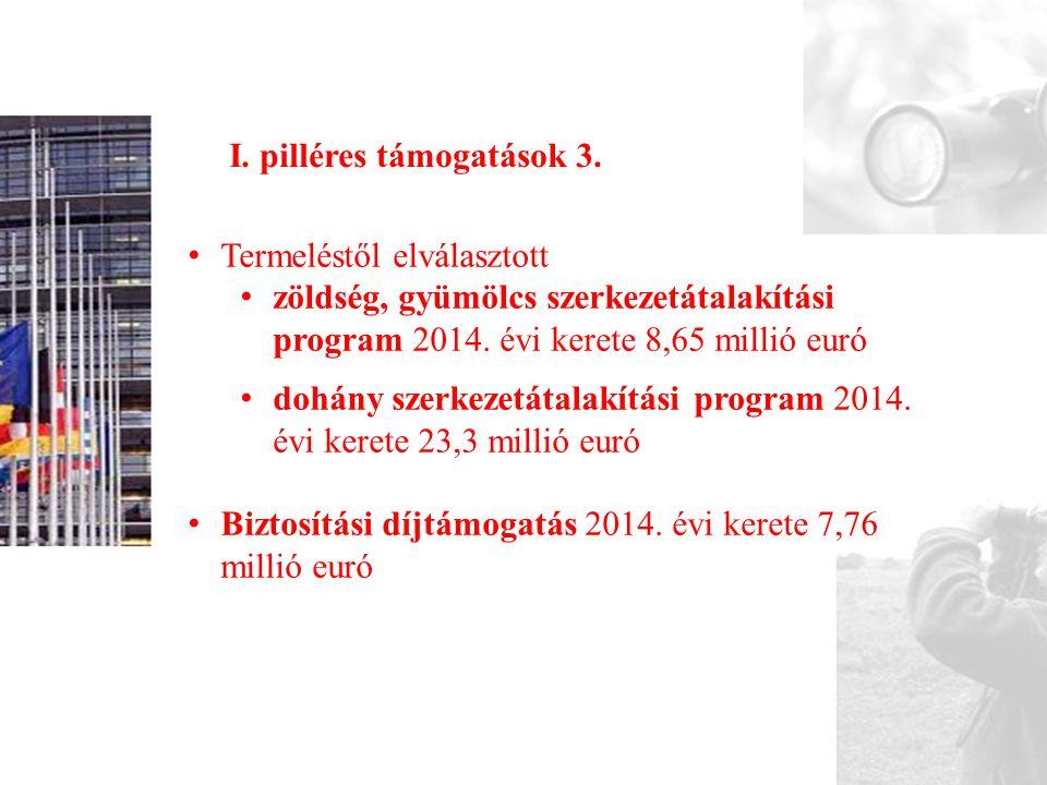 I. pilléres támogatások 3.