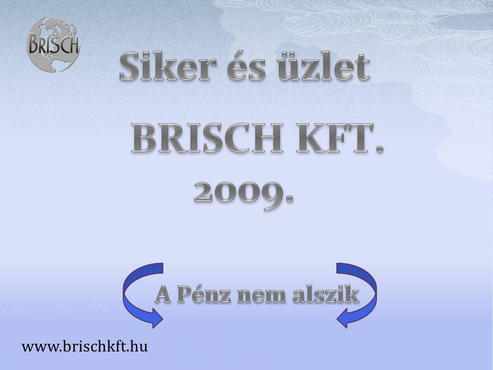 Siker és üzlet BRISCH KFT. 2009. A Pénz nem alszik www.brischkft.hu