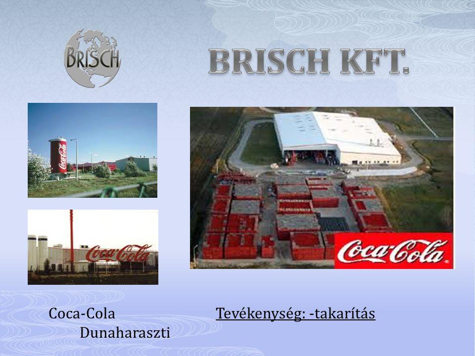 BRISCH KFT. Coca-Cola Tevékenység: -takarítás Dunaharaszti