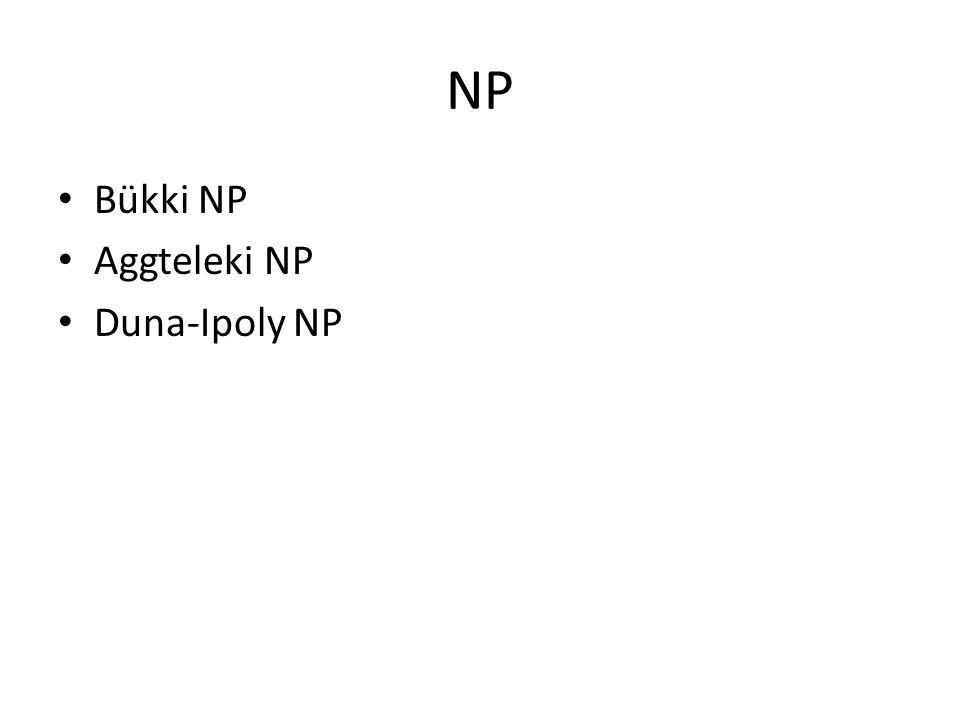 NP Bükki NP Aggteleki NP Duna-Ipoly NP