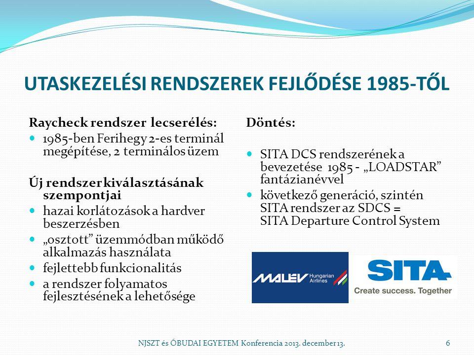 UTASKEZELÉSI RENDSZEREK FEJLŐDÉSE 1985-TŐL