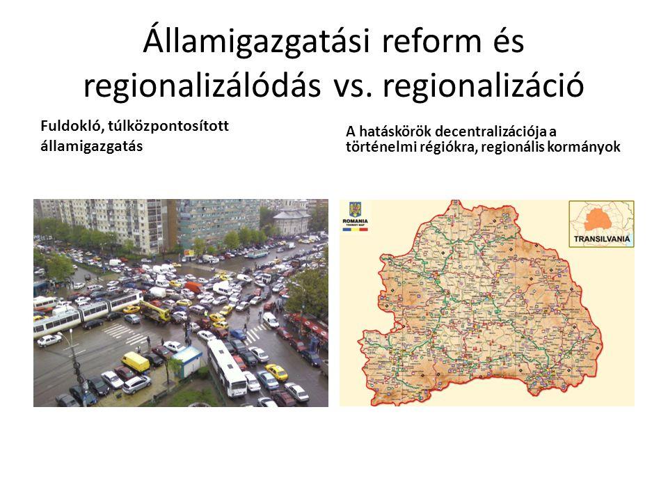 Államigazgatási reform és regionalizálódás vs. regionalizáció