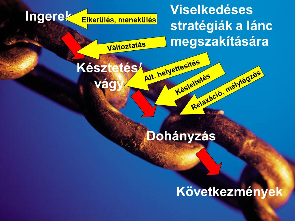 Ingerek Késztetés/ vágy Dohányzás Következmények