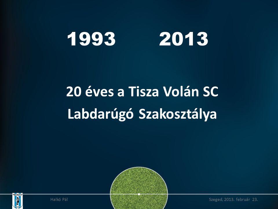 20 éves a Tisza Volán SC Labdarúgó Szakosztálya