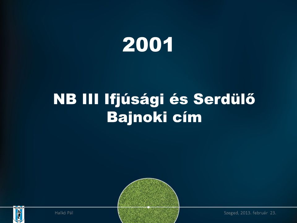 2001 NB III Ifjúsági és Serdülő Bajnoki cím