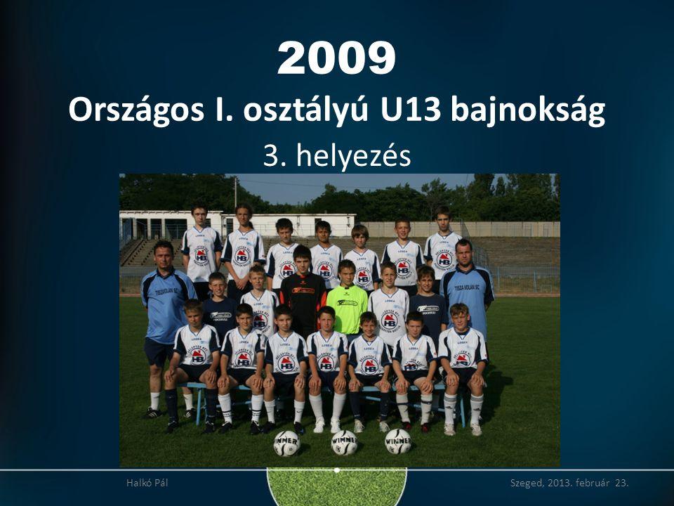 2009 Országos I. osztályú U13 bajnokság