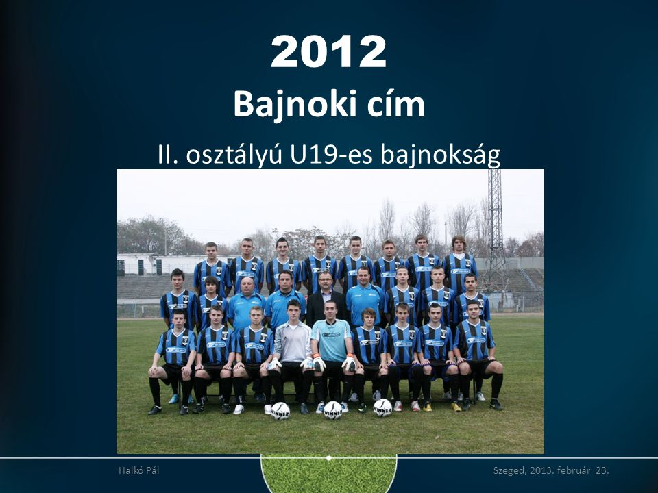 2012 Bajnoki cím II. osztályú U19-es bajnokság