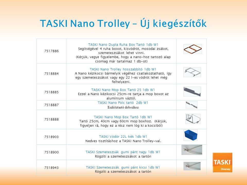TASKI Nano Trolley – Új kiegészítők