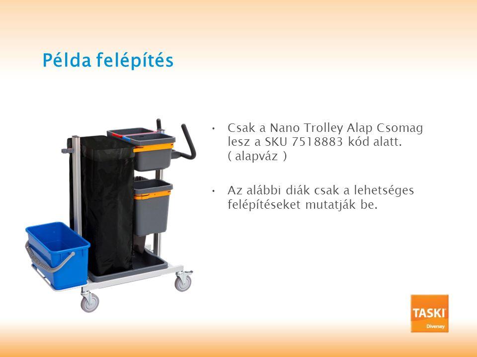 Példa felépítés Csak a Nano Trolley Alap Csomag lesz a SKU 7518883 kód alatt. ( alapváz )