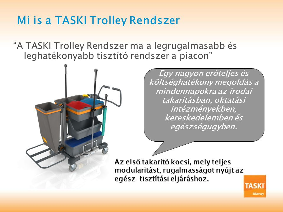 Mi is a TASKI Trolley Rendszer