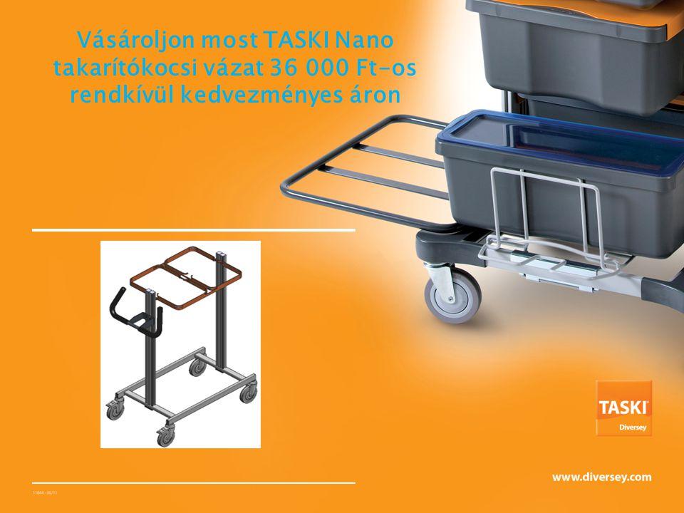 Vásároljon most TASKI Nano takarítókocsi vázat 36 000 Ft-os rendkívül kedvezményes áron