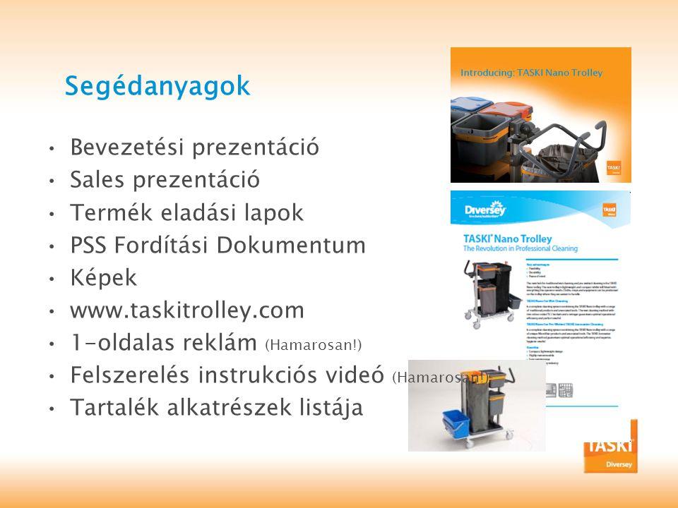 Segédanyagok Bevezetési prezentáció Sales prezentáció