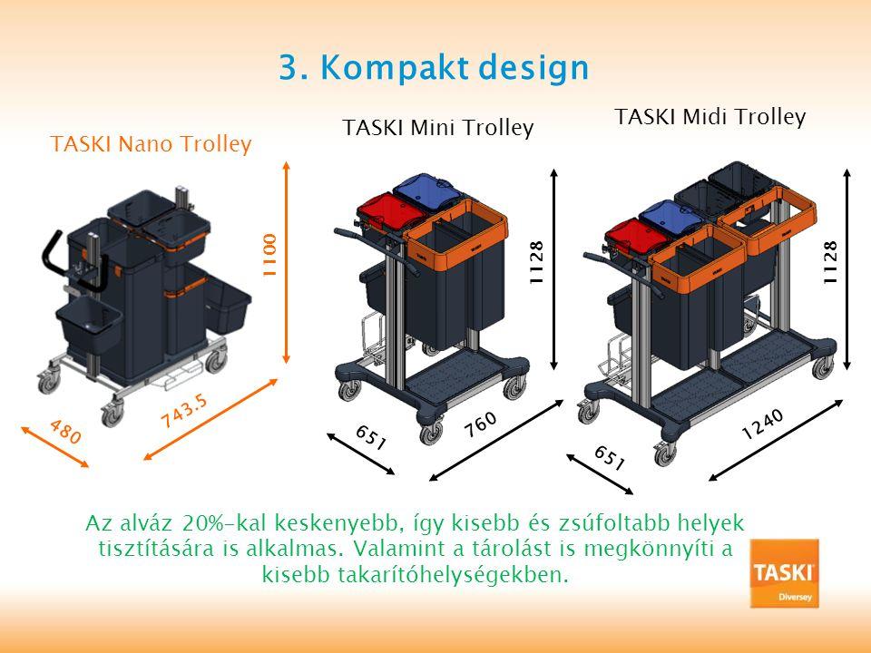 3. Kompakt design TASKI Midi Trolley TASKI Mini Trolley