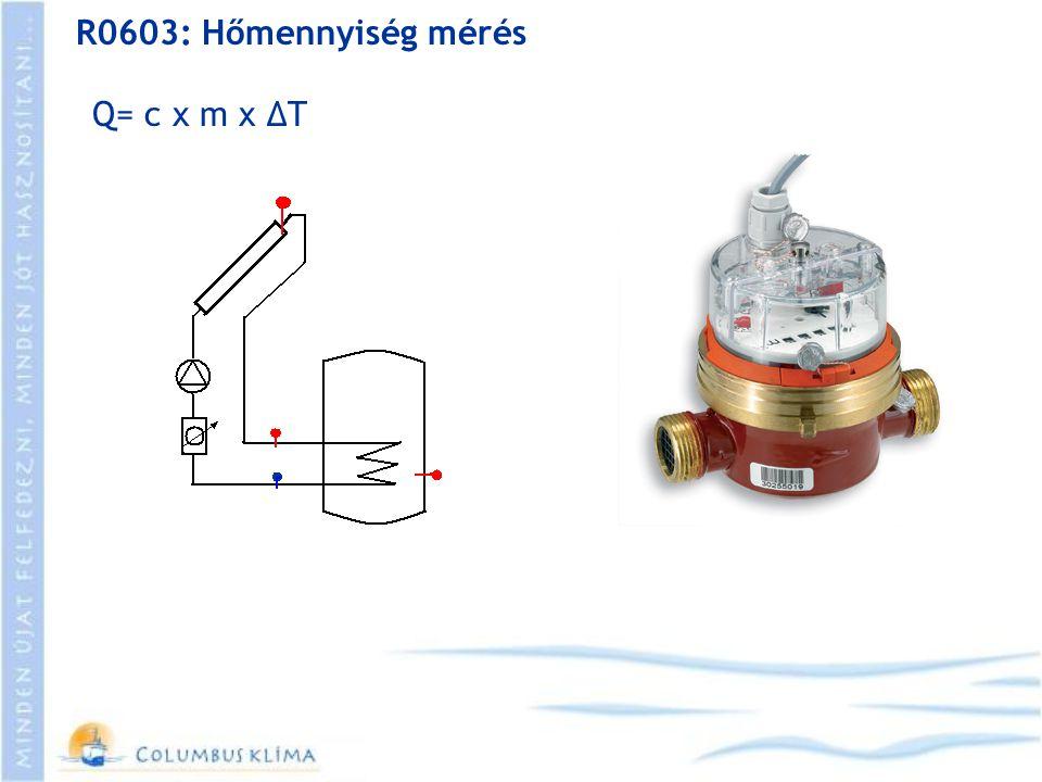R0603: Hőmennyiség mérés Q= c x m x ΔT
