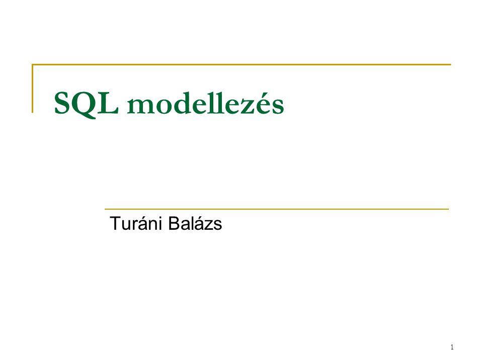 SQL modellezés Turáni Balázs