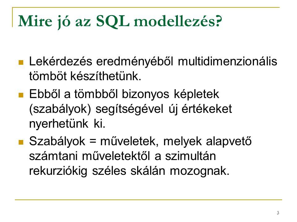 Mire jó az SQL modellezés
