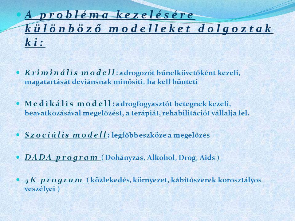 A probléma kezelésére különböző modelleket dolgoztak ki: