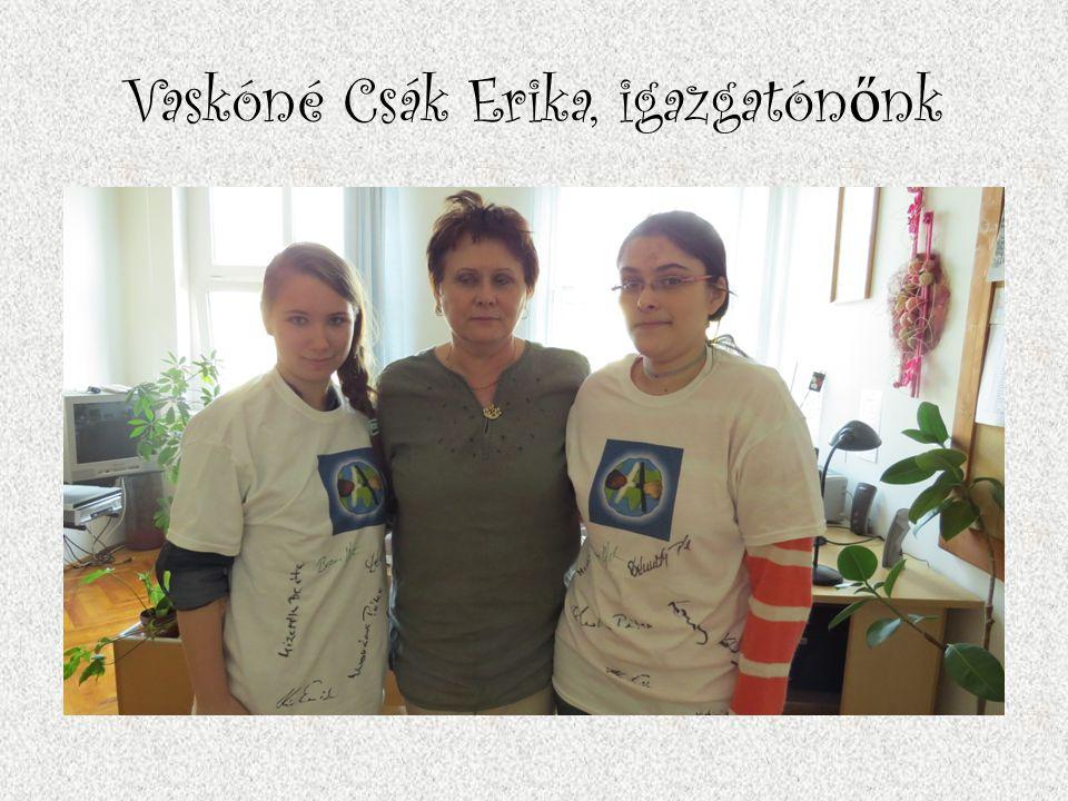 Vaskóné Csák Erika, igazgatónőnk