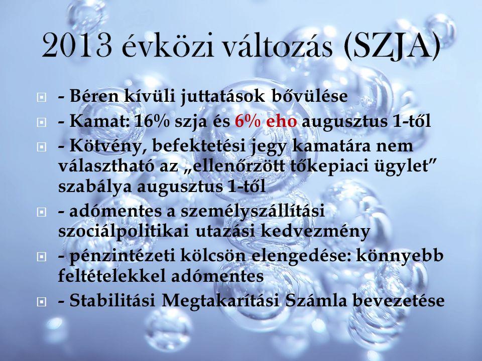 2013 évközi változás (SZJA)