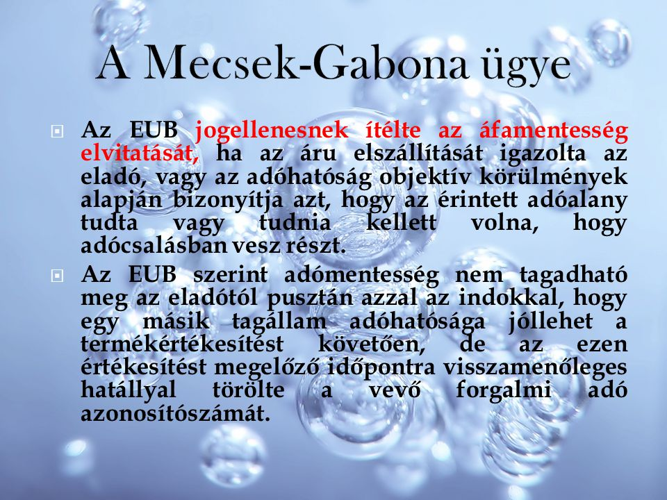 A Mecsek-Gabona ügye