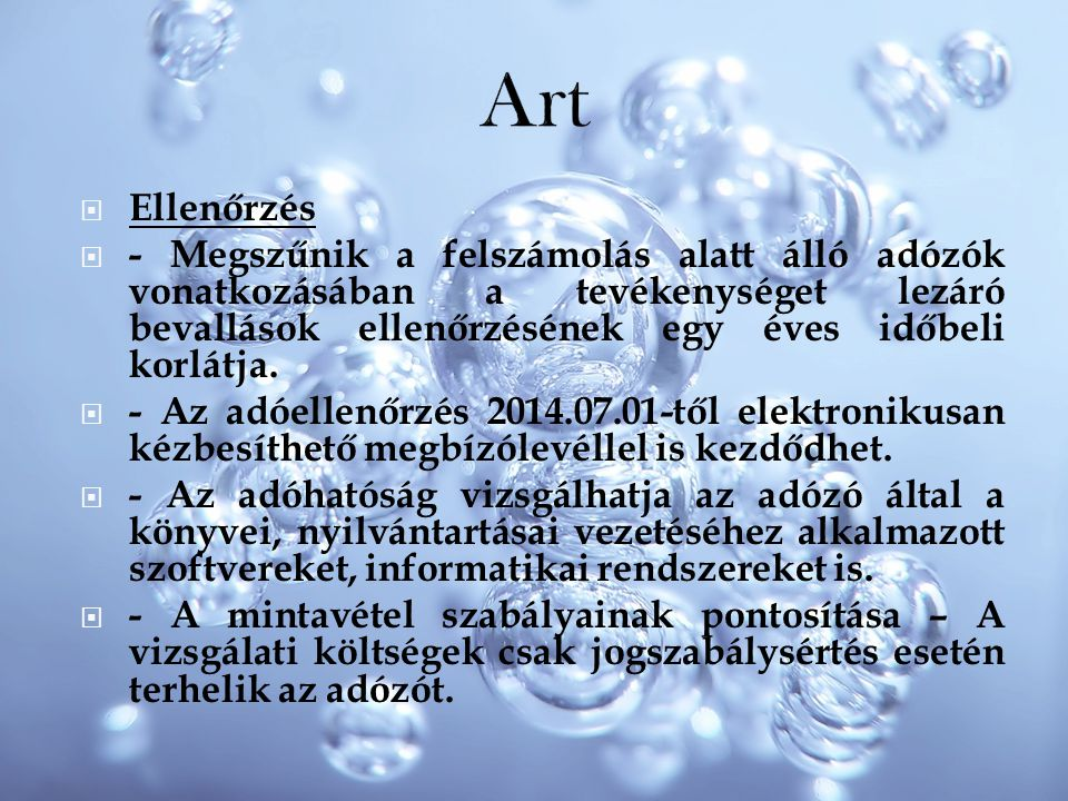 Art Ellenőrzés.