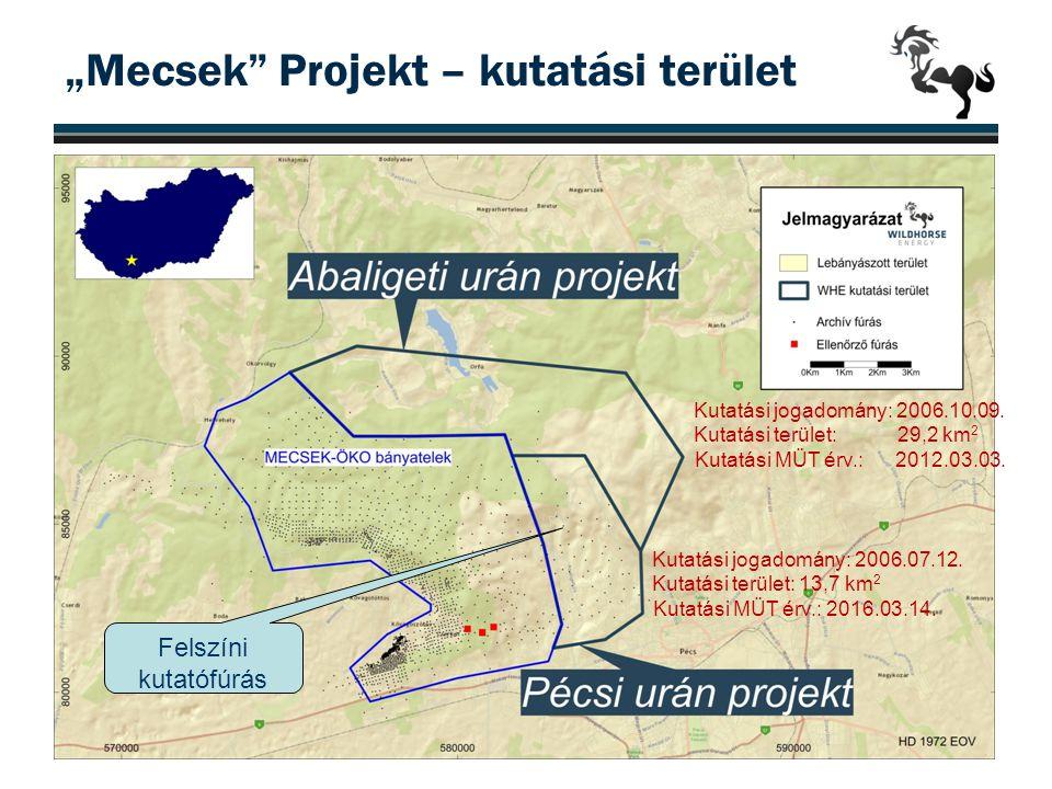 """""""Mecsek Projekt – kutatási terület"""