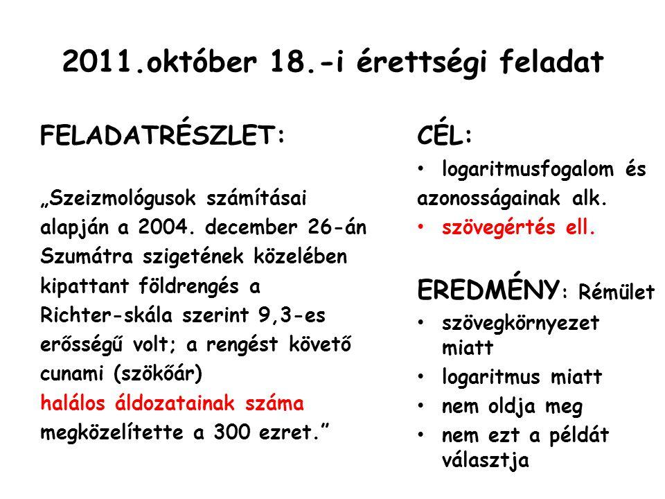 2011.október 18.-i érettségi feladat